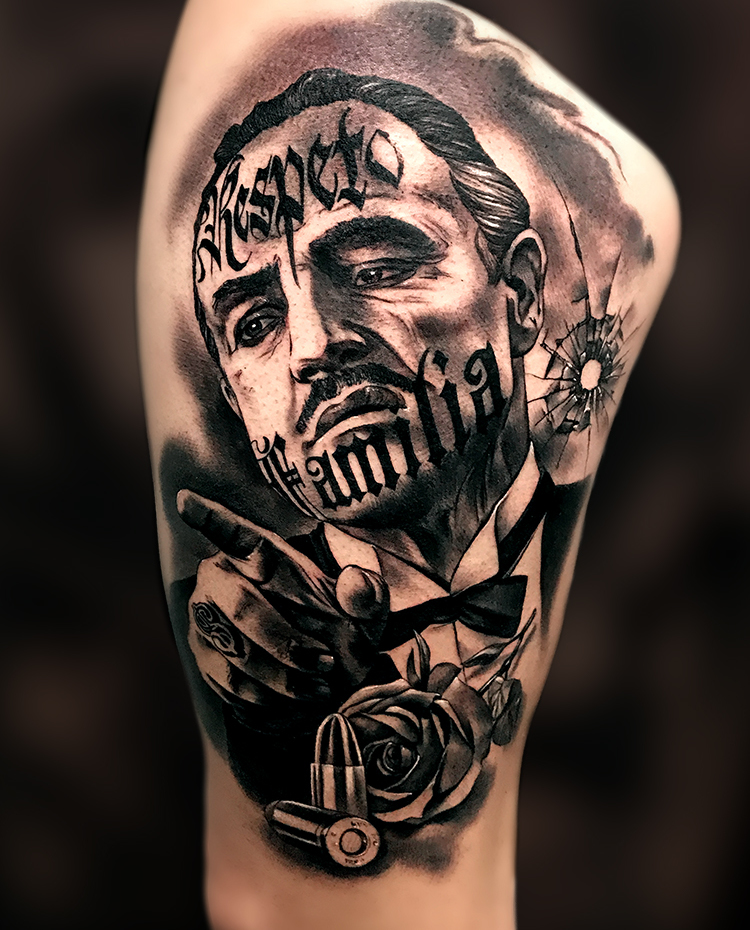 Cheyenne Tattoo Artist Carlos Fabra Comic Black Grey